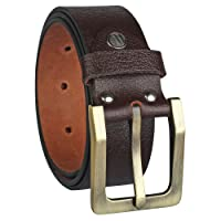 Alfami Mens / Gents / Boys Genuine Original Leather Belt | Formal / Casual | Brown & Tan Colour | 28 to 46 Sizes | 2 Year Warranty