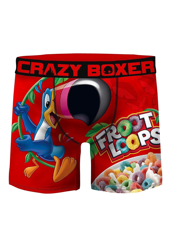 Crazy Boxers Men's Froot Loops Boxer Briefs