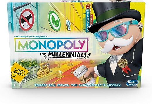 Hasbro- Monopoly for Millennials Juego de Mesa, Multicolor ...