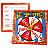 Amazon Com Welcome To The Carnival Party Invitations Under The Big