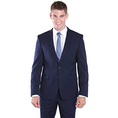 2 Piece Modern Slim Cut Suit for Men - Navy, 44 Regular