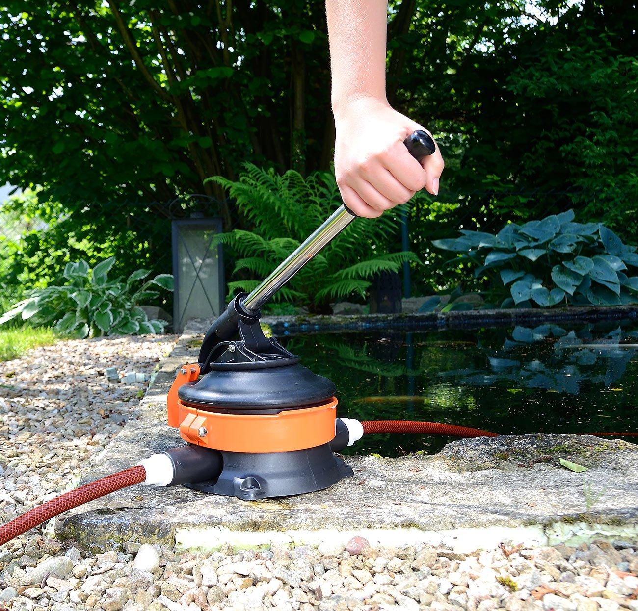 AGT Wasser-Handpumpe mit rostfreiem Stahlhebel