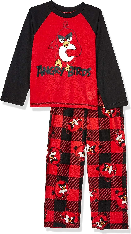 Angry Birds Big Boys/' 4pc Cotton Sleepwear Set
