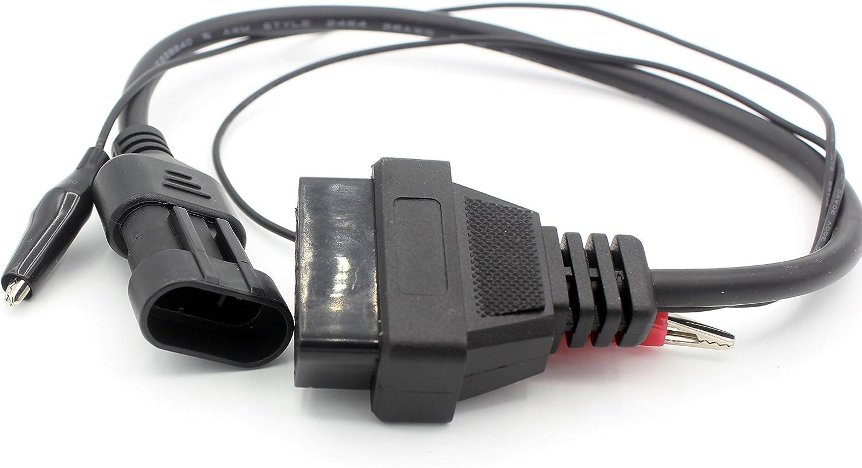 au c/âble OBD II Femelle + m/âle LoongGate SAE J1939 9 Broches 2 en 1 J1939 /à OBD2 16 Broches Adaptateur pour Camion GPS Tracker Interface Scanner de Code Outils de Diagnostic