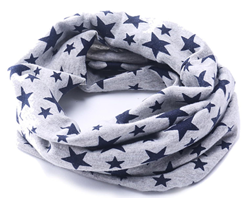 Viskey Pañ uelo para el cuello (niñ os), diseñ o de estrellas, color gris diseño de estrellas