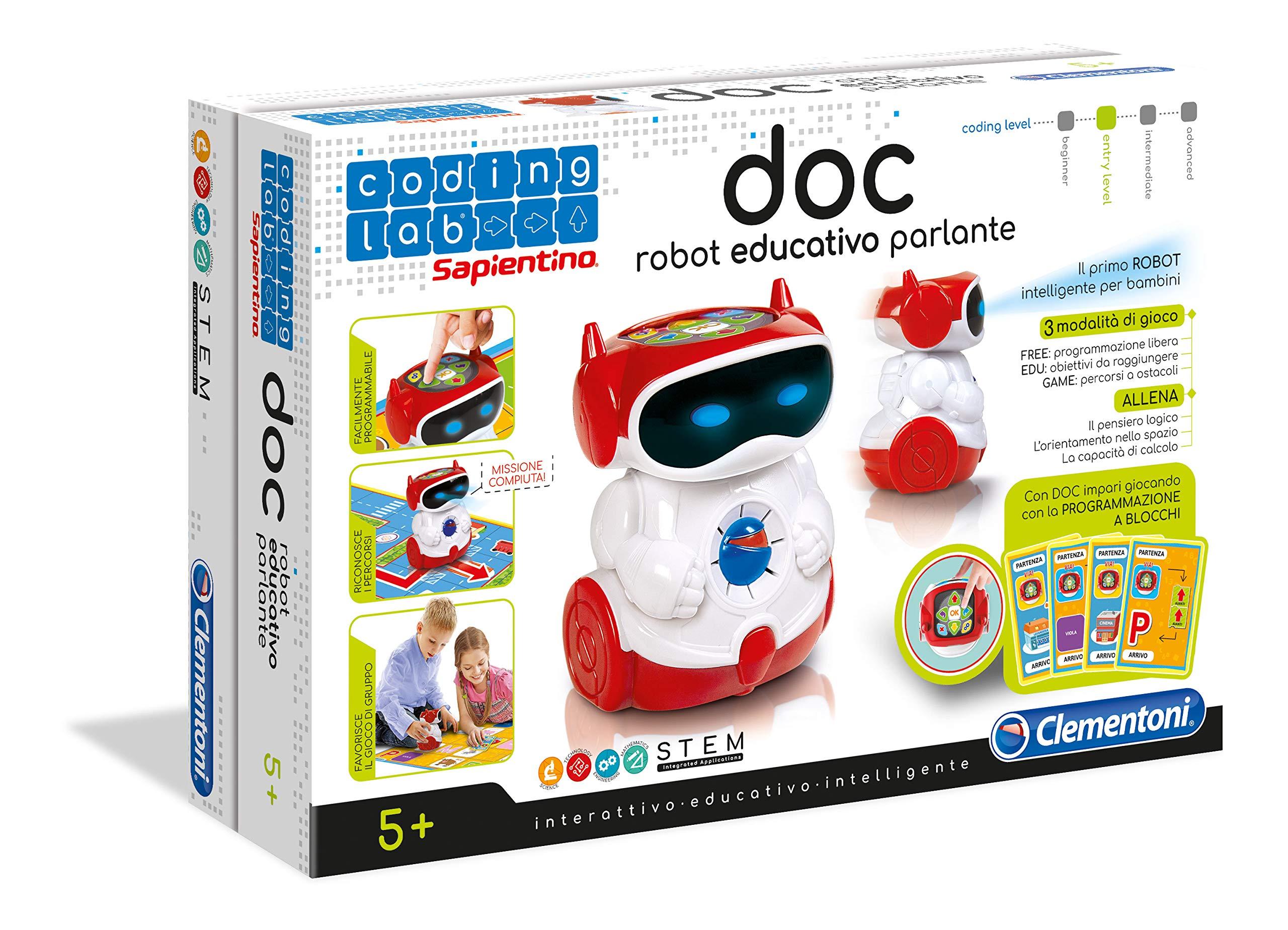 405245d8a2e4f5 Clementoni- Sapientino Doc Robottino Educativo, Multicolore, 11112 product  image