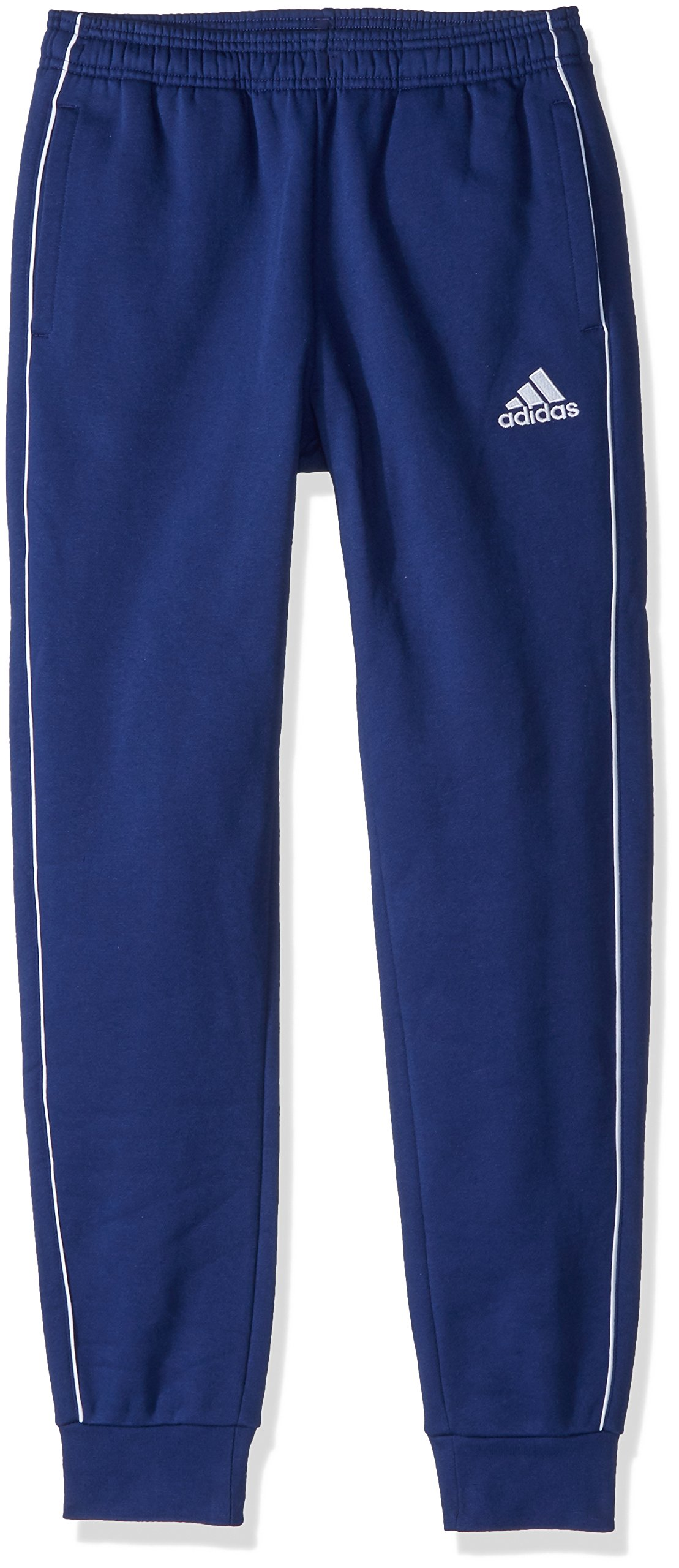 adidas Core 18 Sweat Pants, Dark Blue/White, S by adidas