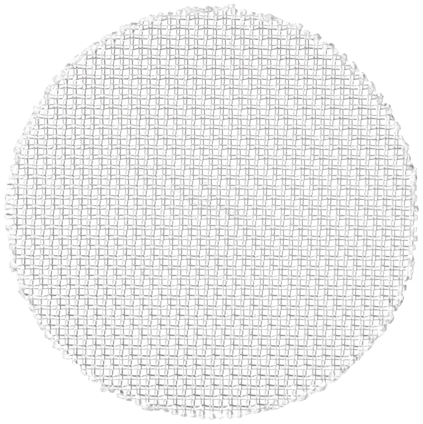 Nylon 6/6 Woven Mesh Round, Opaque Off-White, 1/2'' OD, 36 microns Mesh Size, 28% Open Area (Pack of 100)