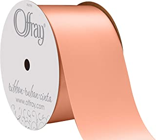 "product image for Offray Berwick 2.25"" Wide Double Face Satin Ribbon, Petal Peach Pink, 10 Yds"