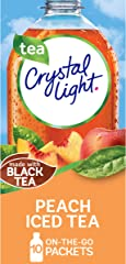 Crystal Light Peach Iced Tea Artificially Flavored Powdered Drink Mix (10 ct On-the-Go-Packets)