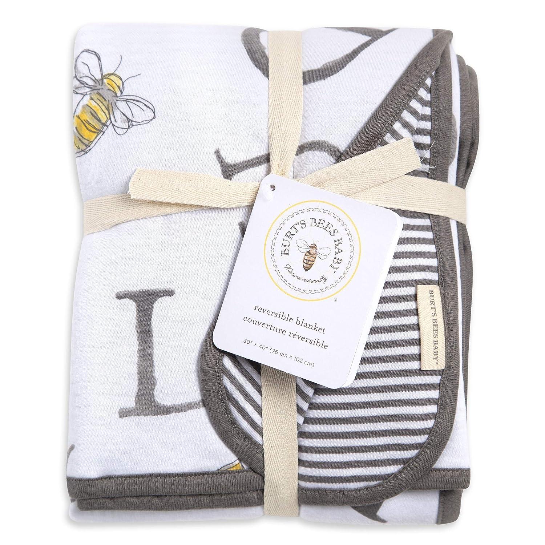 Burts Bees unisex-baby Watercolor a Bee C Reversible Jacket