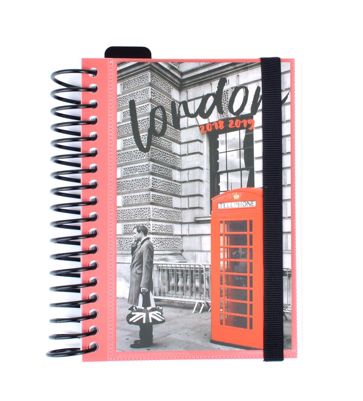 Grupo Erik Editores ADPE1805 - Agenda escolar con espiral en español London, 11.4 x 16 cm