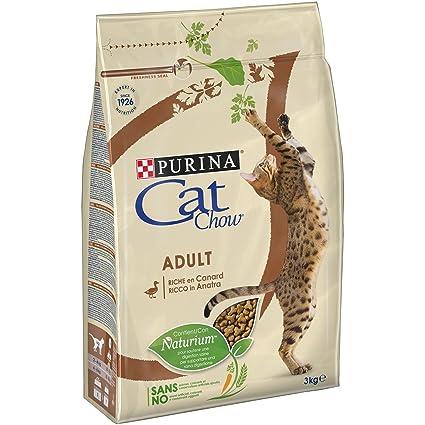 Cat Chow pienso con naturiumtm Riche de Pato para Gato Adulto 3 kg