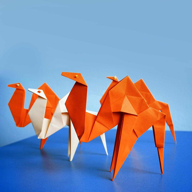 QH-shop Origami, Papel Origami 100 hojas Doble Cara Papel para Papiroflexia de Colores para Niños Juguetes Decoración de Fiesta 10 cm