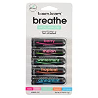 Aromatherapy Nasal Inhaler (5 Pack) by BoomBoom | Boosts Focus + Enhances Breathing...