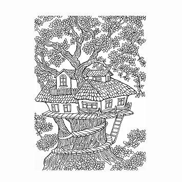 Casa en el árbol Fun diseño de hada árbol Playhouse - Detallada ...