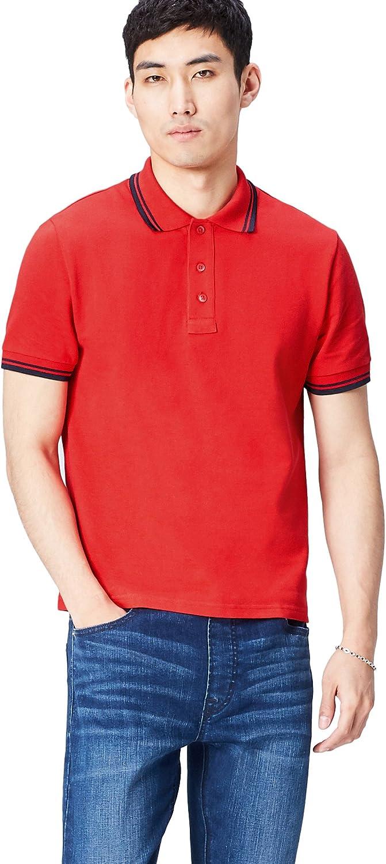 Marca Amazon - Activewear Polo con Cuello y Mangas en Contraste ...