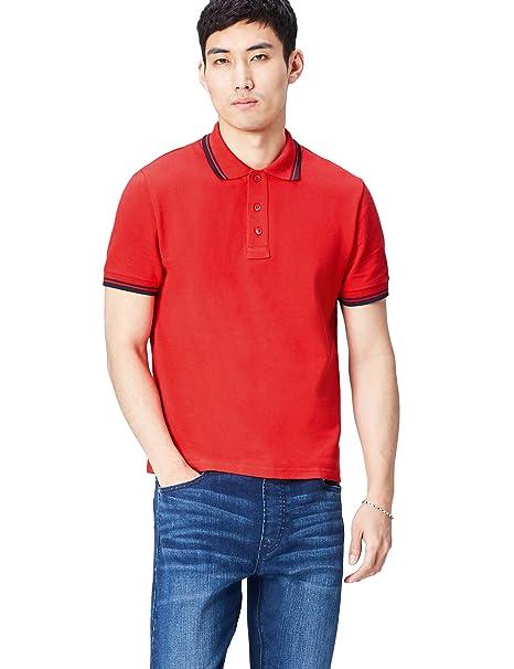 Activewear Polo con Cuello y Mangas en Contraste para Hombre utjWb