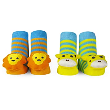 053f3f4ef0a Amazon.com  WADDLE Unisex 2 Pack Animal Slippers