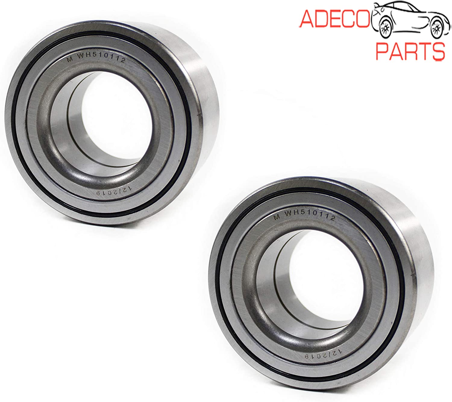 AdecoAutoParts/© Two 510112 Front Wheel Bearing for Nissan Micra Versa Note Fiat 500 500x 051-4283