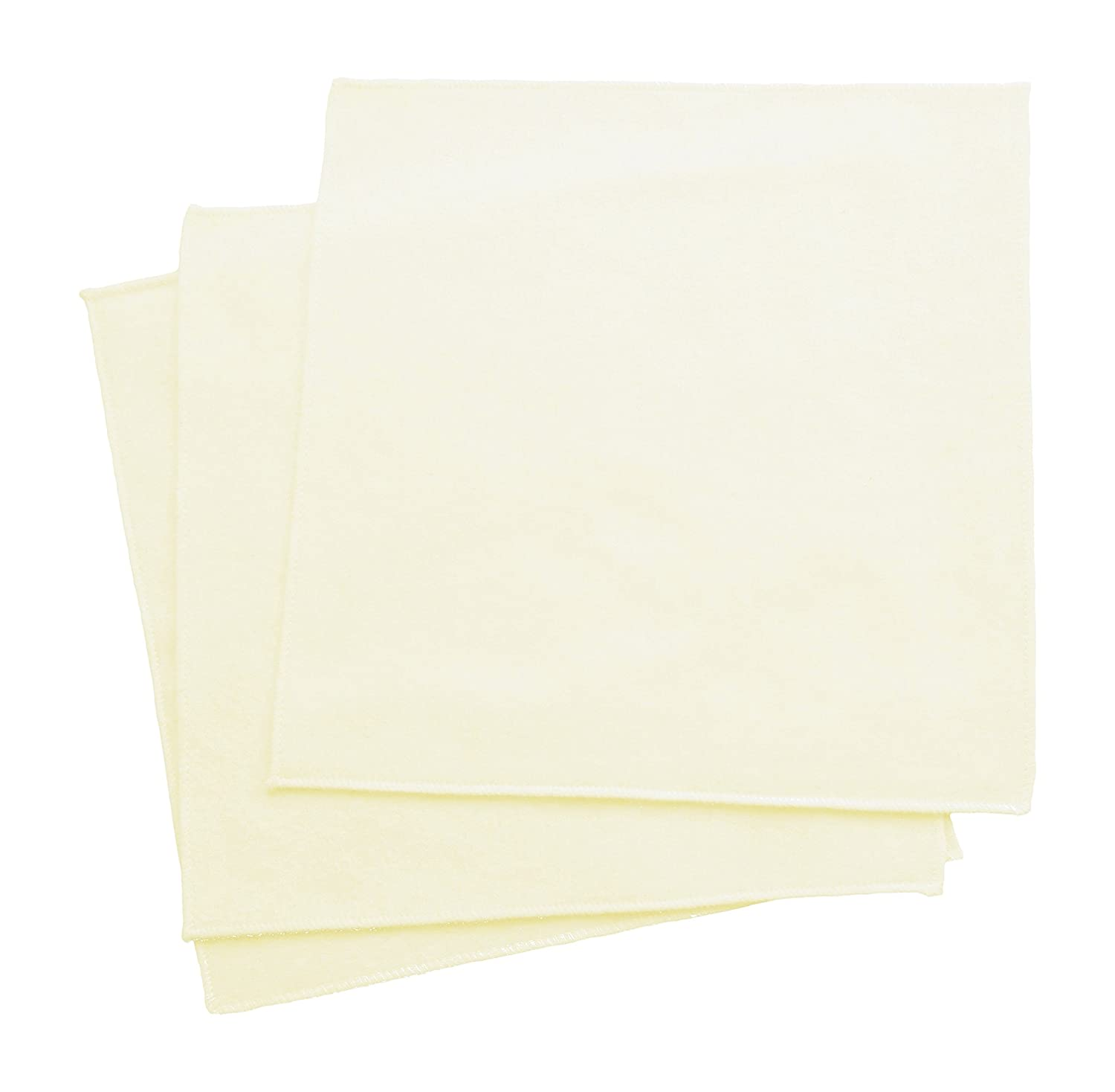 Organic Cotton Flannel Handkerchiefs, Large 14 x 14, Cream (Set of 3) Large 14 x 14 TOHCLGFL