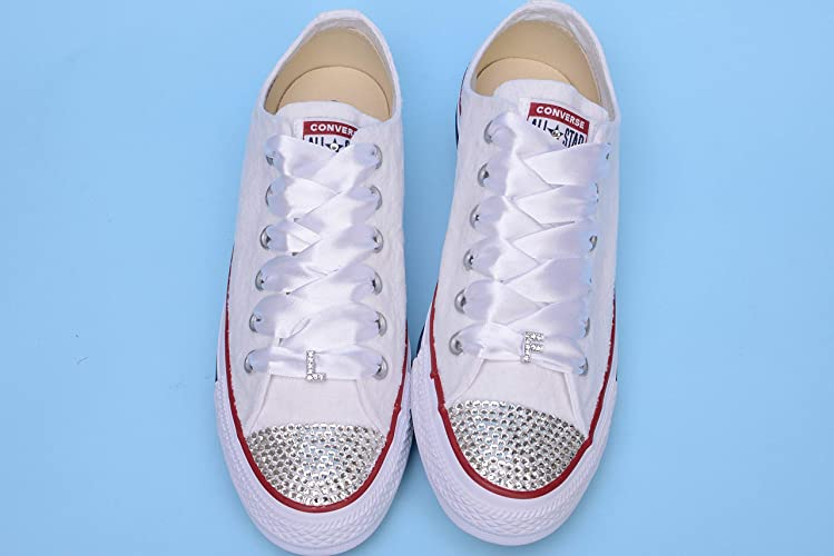 fb43b0ac99bf Amazon.com  Bling Sneakers For Bride