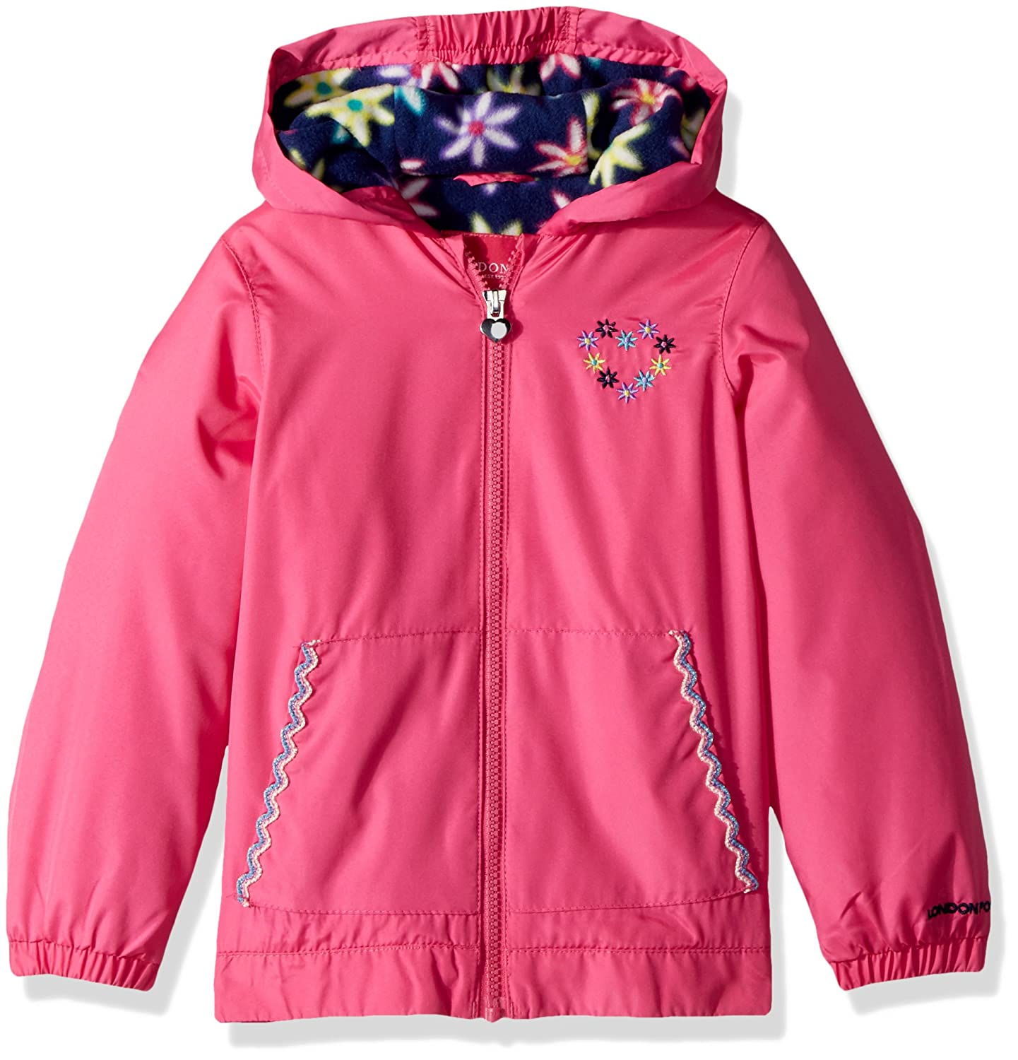 London Fog Girls Floral Printed Fleece Lined Jacket L116778-AN