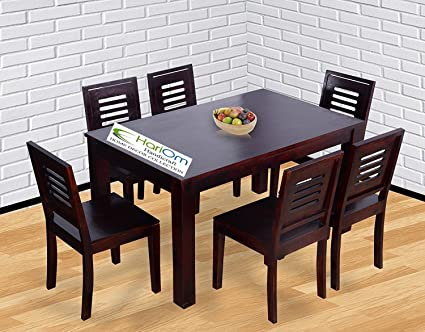 Hariom Handicraft Sheesham Wood Dining Set 6 Seater Dining Table