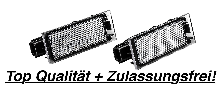 2x  LED SMD Kennzeichenbeleuchtung (RN06) 3D Carbon Design
