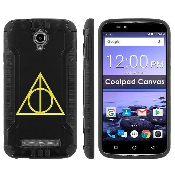 low priced e6ae2 f47ff Amazon.com: Coolpad Canvas 3636A Shock Proof Phone Case [Black/Black ...