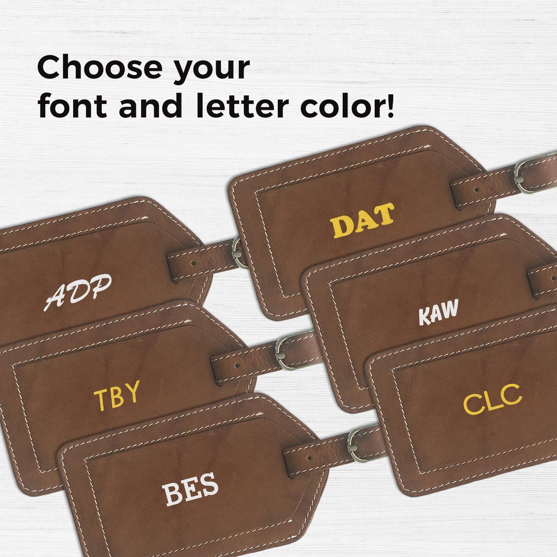 24 pcs MAE73218T Elegant Calligraphy Monogram Custom Luggage Tag