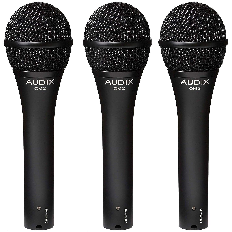 Audix OM2 Trio Dynamic Vocal Microphones