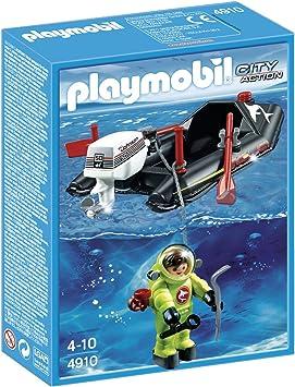 PLAYMOBIL - Lancha con Buzo (4910): Amazon.es: Juguetes y juegos