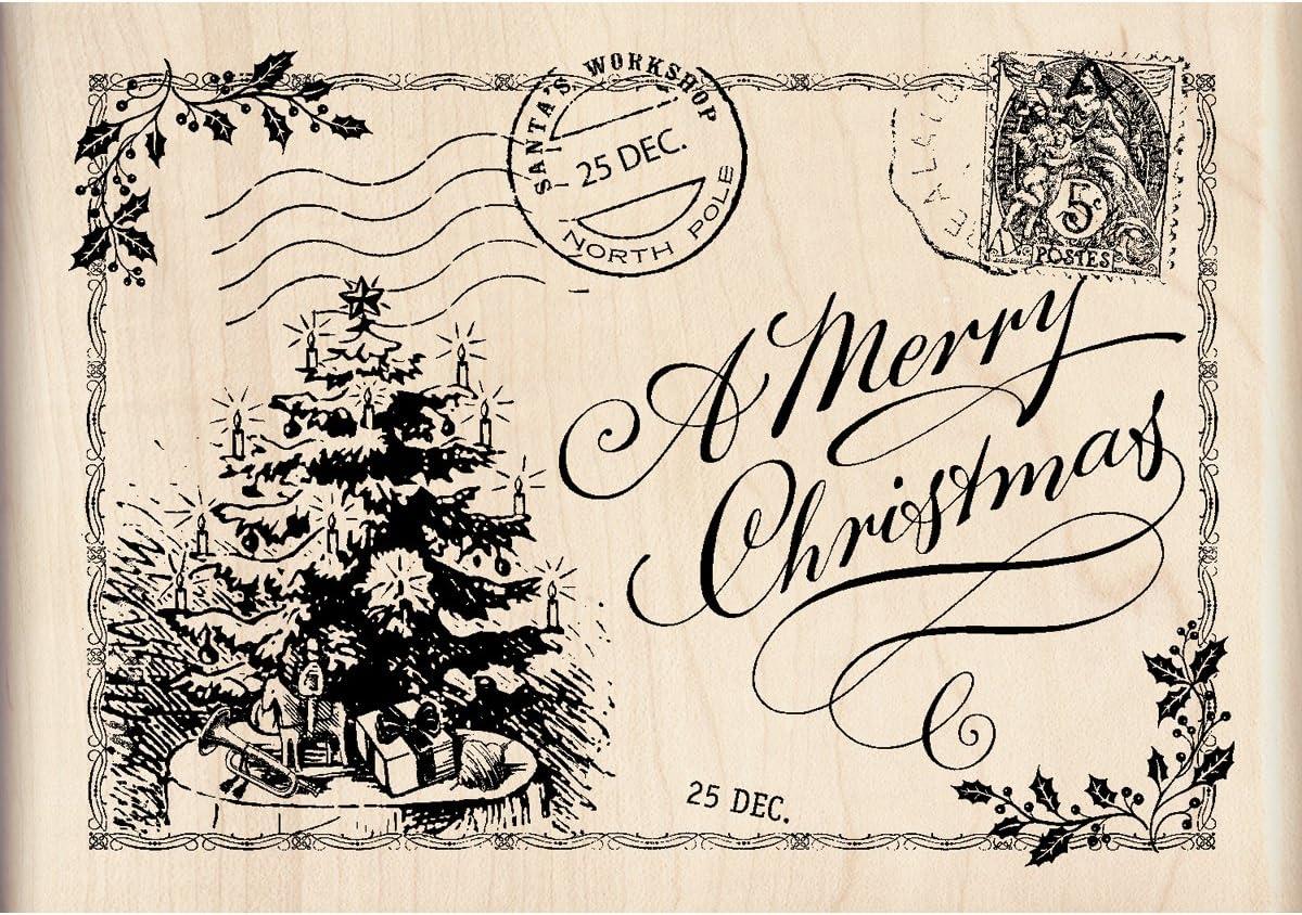 Inkadinkado Christmas and New Year Wood Stamp