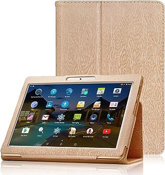 XIDO Funda para Tablet 10 Pulgadas BEISTA/ LNMBBS/ YUNTAB K107 K17, Slim Fit Folio Cubierta Carcasa Caso con Stand Función para ibowin® P130 M130/ Artizlee ATL-21plus ATL-21T ATL-21X ATL-31, Oro: Amazon.es: Electrónica