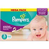 Pampers Premium Protection Active Fit - Size 3, 90 Nappies