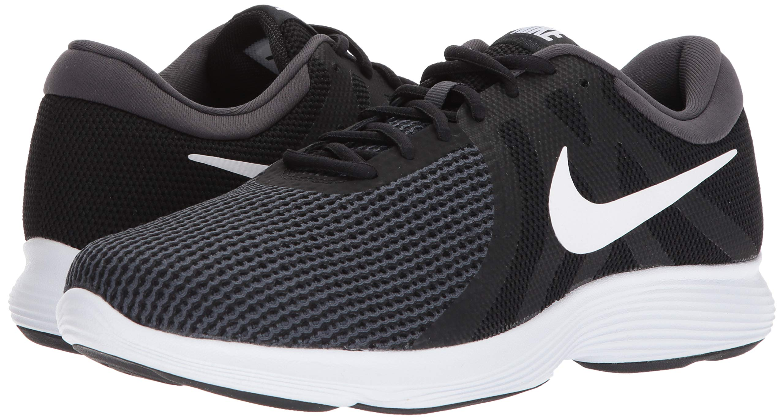 Nike Men's Revolution 4 Running Shoe Black/White - Anthracite 6.5 Wide US by Nike (Image #6)