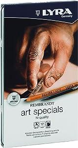 LYRA Rembrandt Art Specials Pencils, Set of 12, Assorted Colors (2001123)