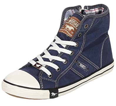 new concept 821e8 25513 Mustang Shoes Damen Schuhe Sneaker Jeansblau