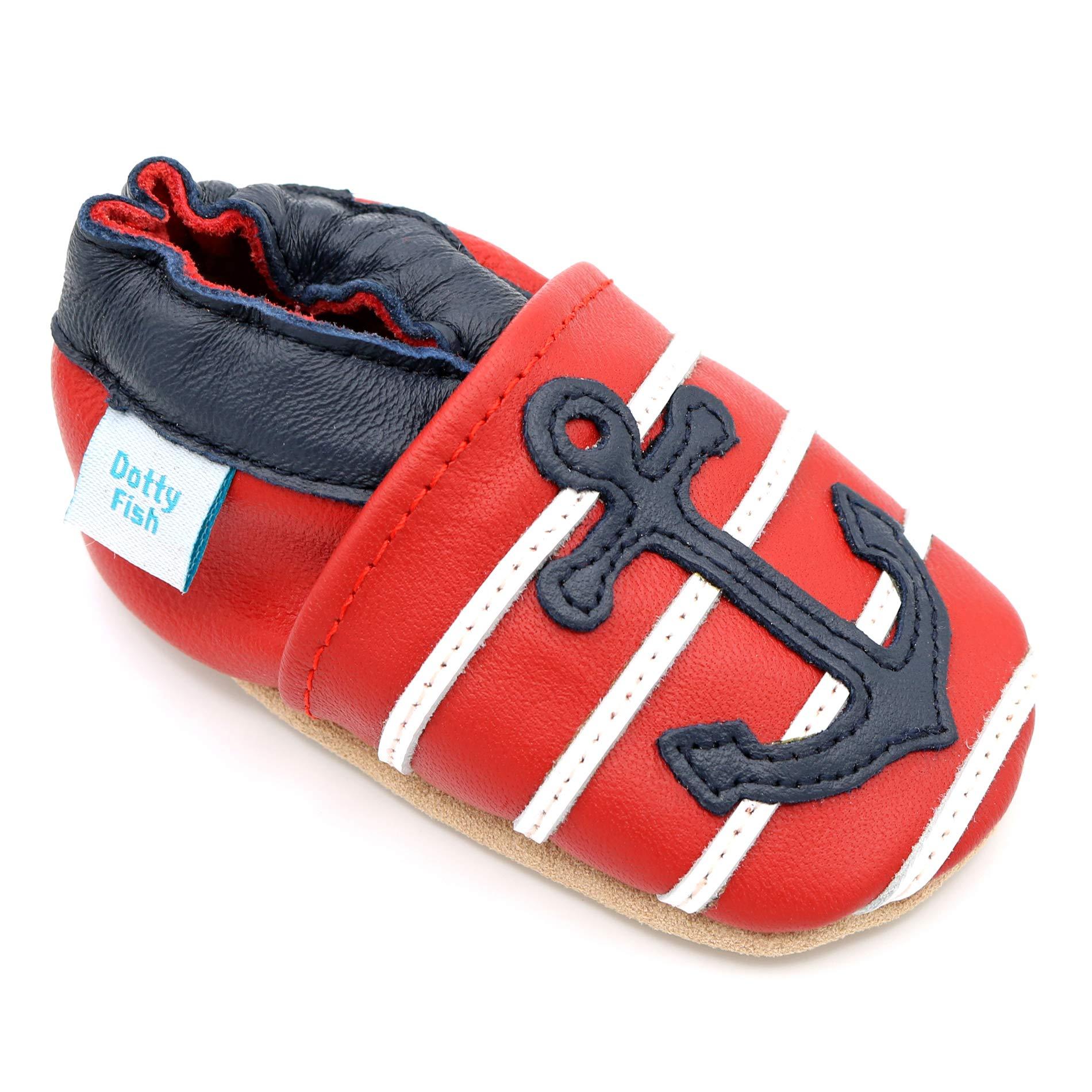 d724fb3926 Dotty Fish Chaussures Cuir Souple bébé et Bambin. 0-6 Mois - 4-