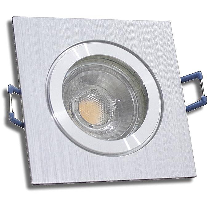 Sets IP44 MCOB LED Bad Einbauspot Aqua Rund 230 Volt 3 Watt Dusche Farbe BiColor