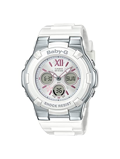 9f615a31a058c5 Casio BGA110BL-7B Baby G Women's Watch White 44.2mm Resin/Stainless Steel:  Amazon.ca: Watches