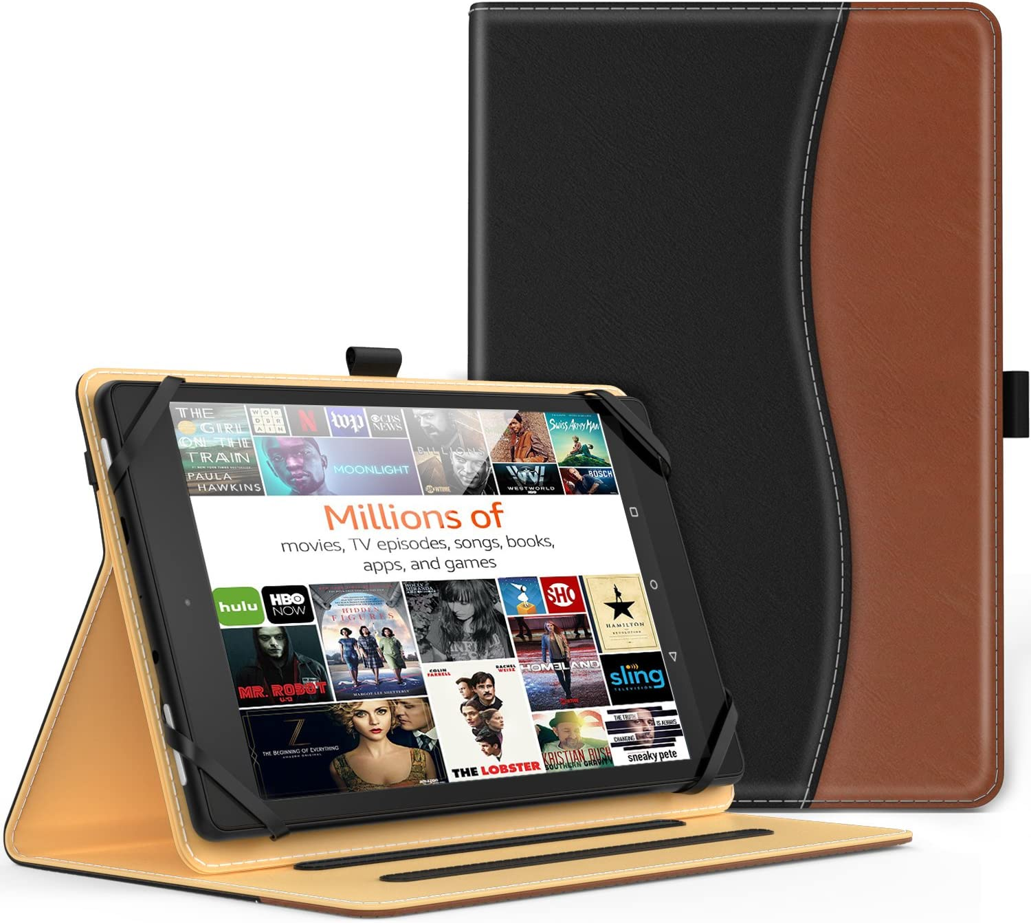 MoKo Universal Case for 9-10 Inch Tablet- Slim Folding Stand Folio Cover PU Leather Protective Case for 9-10 Inch Touchscreen Tablet