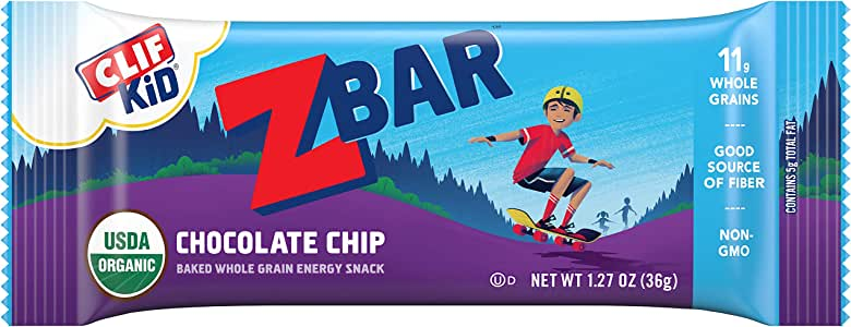 Clif Kid ZBAR - Organic Granola Bars - Chocolate Chip - (1.27 Ounce Energy Bars, Lunch Box Snacks, 18 Count)