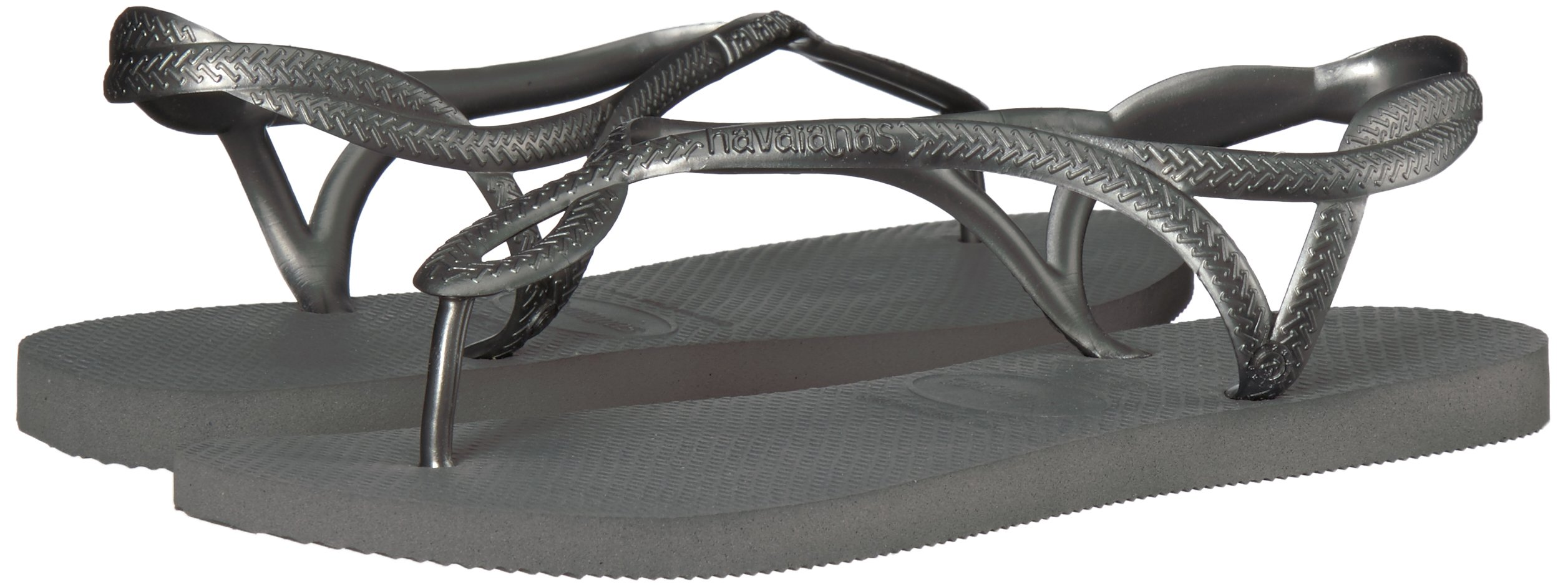 Havaianas Kids' Luna Flip Flop Around Ankle Straps, Roman Sandal, Steel Grey by Havaianas (Image #6)