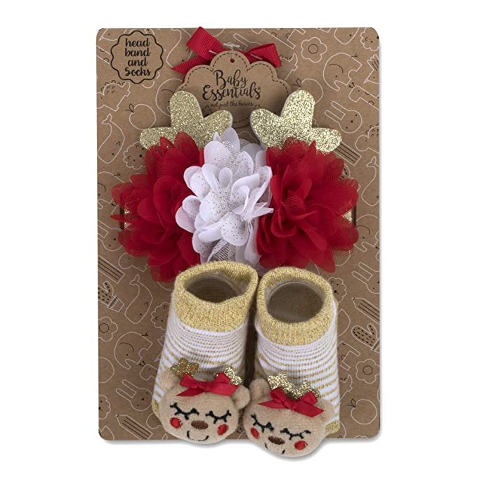 Amazon.com: Calcetines y sombreros para bebé o diademas con ...