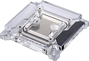 Phanteks Glacier C360i CPU Water Block for Intel 2011-3 and 115x, Acrylic Cover, Digital-RGB LED Lighting, Chrome and Black Cover.