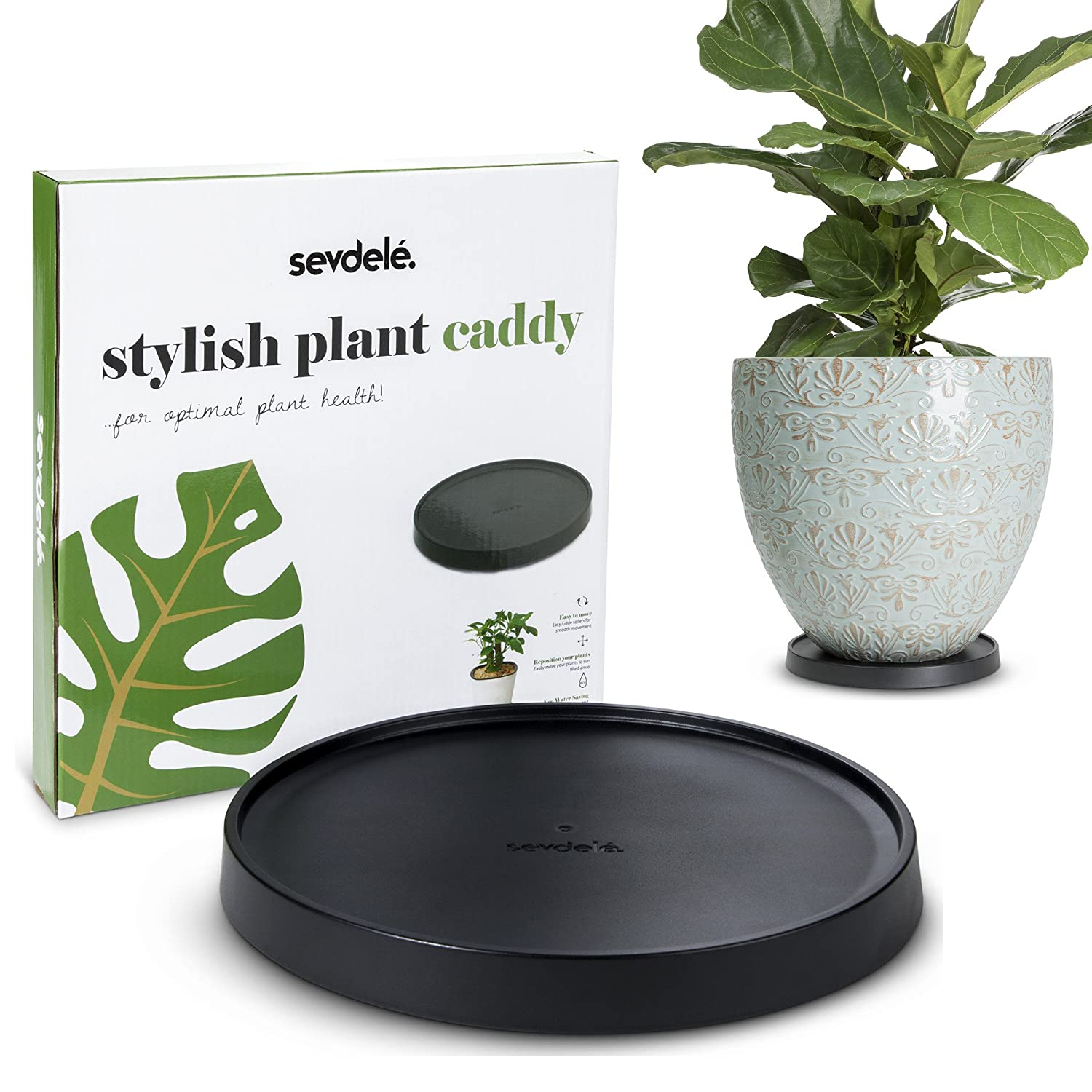 Amazon Com Designer Plant Stand With Wheels 9 8 Rolling Flower