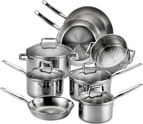 T-fal Stainless Steel Cookware Set E469SC
