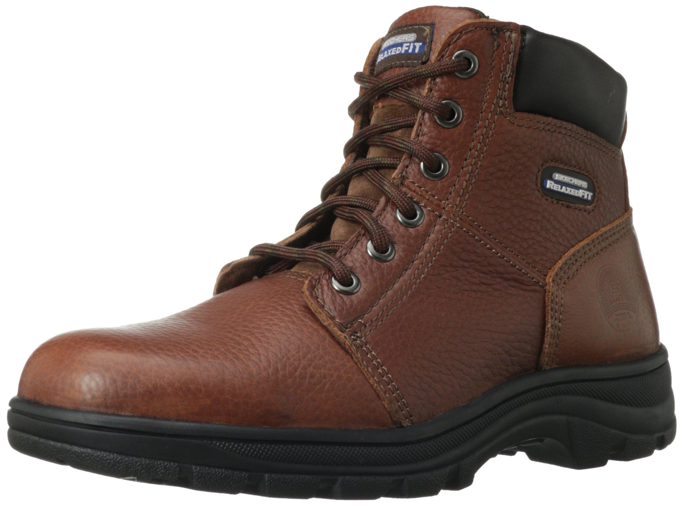 Skechers for Work Men's Workshire Condor Work Boot,Brown,9 M US